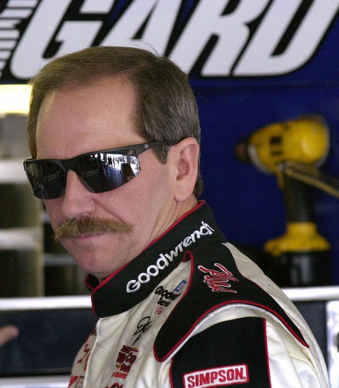 . File - NASCAR driver Dale Earnhardt, of Kannapolis, N.C., looks out of the garage at the Daytona International Speedway Friday morning, Feb. 9, 2001, in Daytona Beach, Fla.    (AP Photo/Chris O\'Meara)