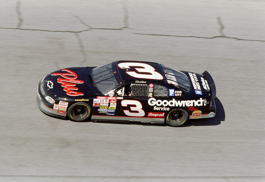 . 12 Feb 1998 file photo:  Dale Earnhardt #3 in action during the Nascar Daytona 500 at the Daytona International Speedway in Daytona Beach, Florida. (Andy Lyons/Allsport)