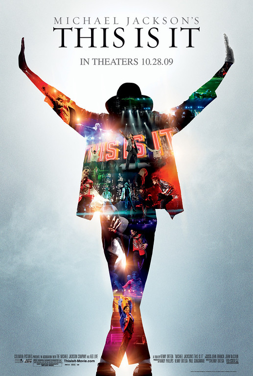 ". In this film publicity image released by Sony Pictures, the movie poster for Michael Jackson\'s ""This is It,\"" film, is shown. (AP Photo/Sony Pictures)"