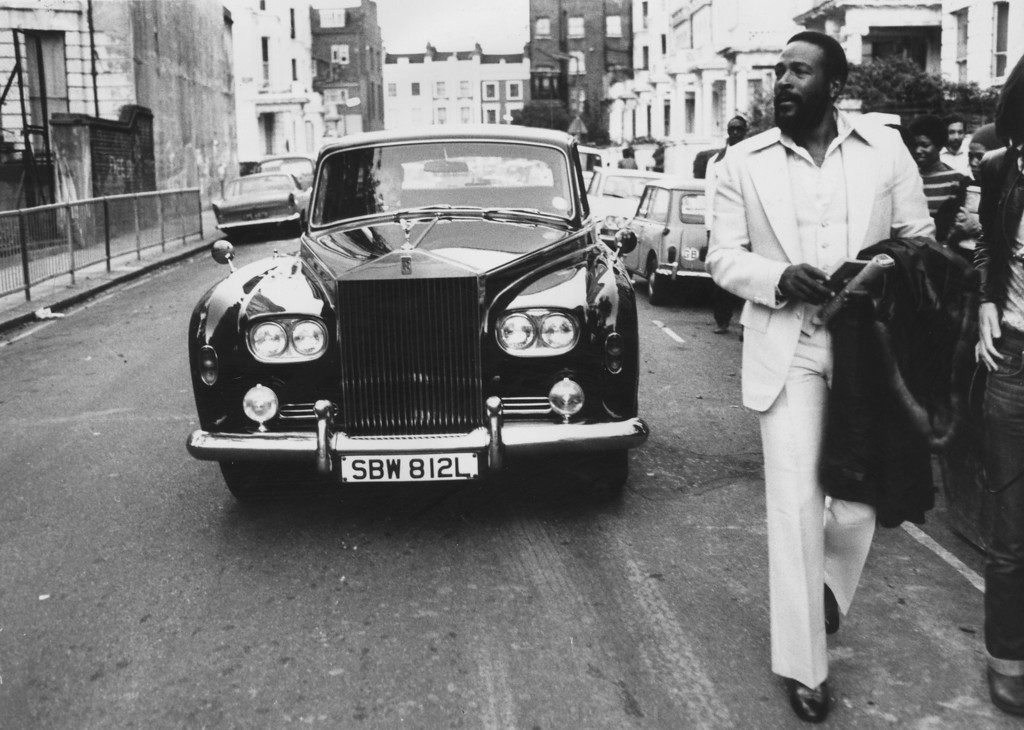 . File - American soul singer Marvin Gaye walking ahead of his Rolls Royce in Notting Hill, London on October 6, 1976. His life came to a tragic end on April 1, 1984, when Gaye was shot and killed by his own father one day short of his 45th birthday. (Photo by John Minihan/Evening Standard/Getty Images)
