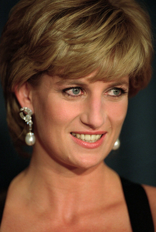 . Diana, Princess of Wales, smiles at the United Cerebral Palsy\'s annual dinner at the New York Hilton in this Dec. 11, 1995 file photo.   (AP Photo/ Mark Lennihan, file)