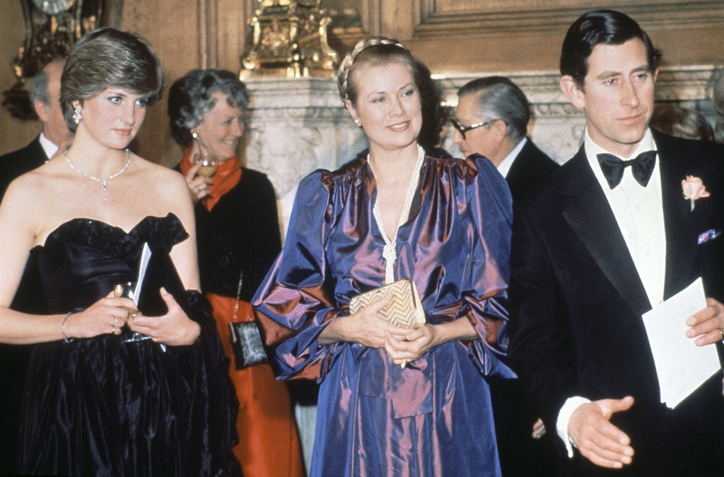 . Princess Grace of Monaco, pictured with Princess Diana and Prince Charles during a visit to London in July in 1981. (AP Photo)