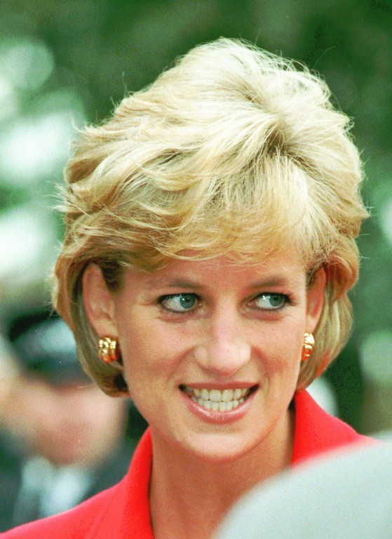 . Britain\'s Princess Diana arrives at the London Lighthouse, a residential and support center for people affected by HIV and AIDS, in central London Tuesday Oct. 8, 1996. (AP Photo/Adrian Dennis)