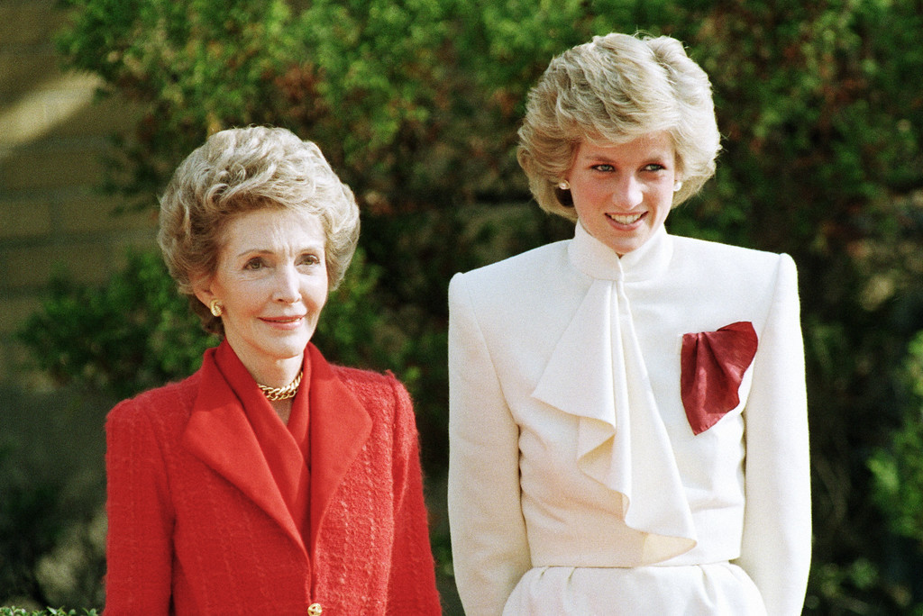 . Princess Diana and Nancy Reagan in November 1985. (AP Photo)