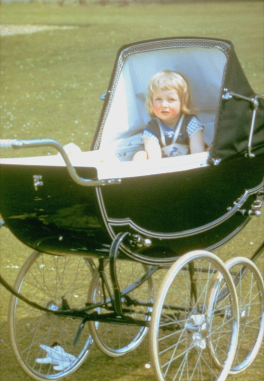 . BABY GIRL, SITTING IN CARRIAGE, ROYALTY
