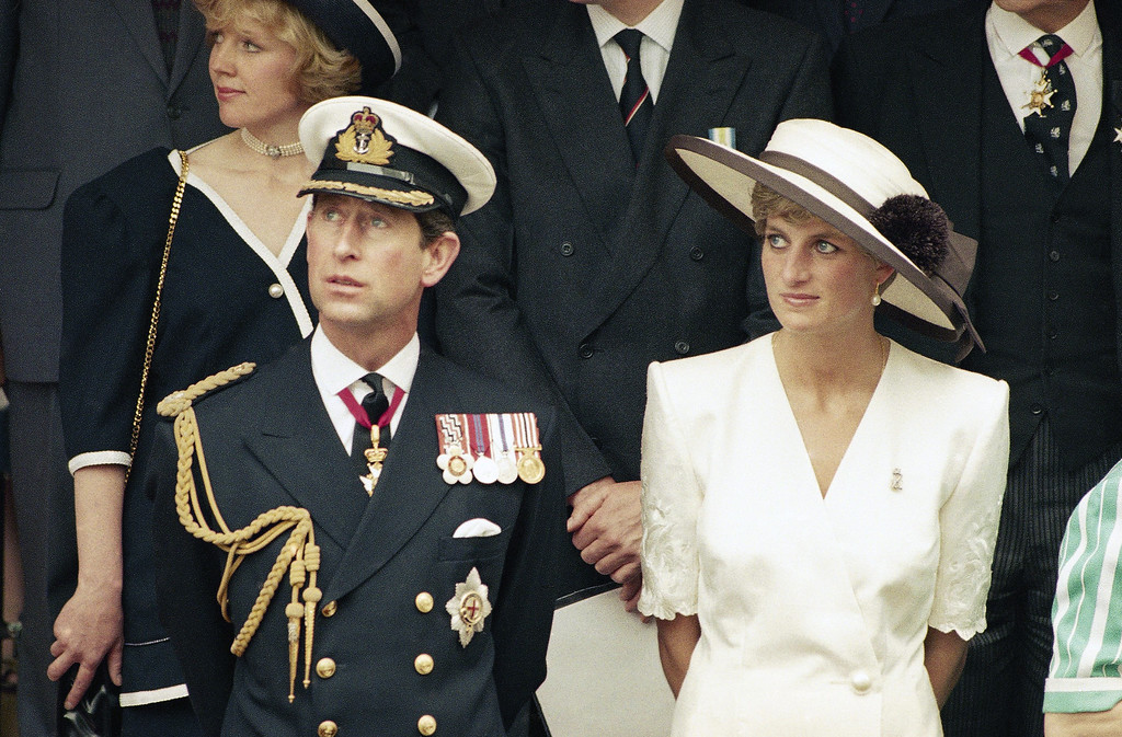 . Prince Charles with wife Princess Diana in 1991. (AP Photo)