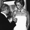 British Royalty Princes Diana with Hungarian President Arpad Goncz