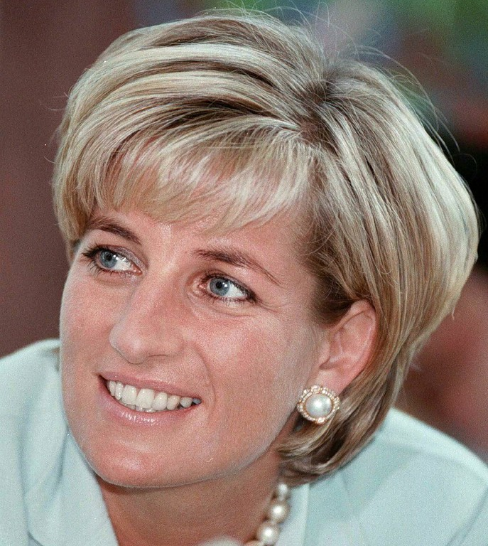 . Diana, the Princess of Wales during her visit to Leicester in this May 27, 1997 file photo.  Princess Diana was born on July 1, 1961. Diana was killed in a car crash in Paris on August 31, 1997.  (AP Photo/Pool)