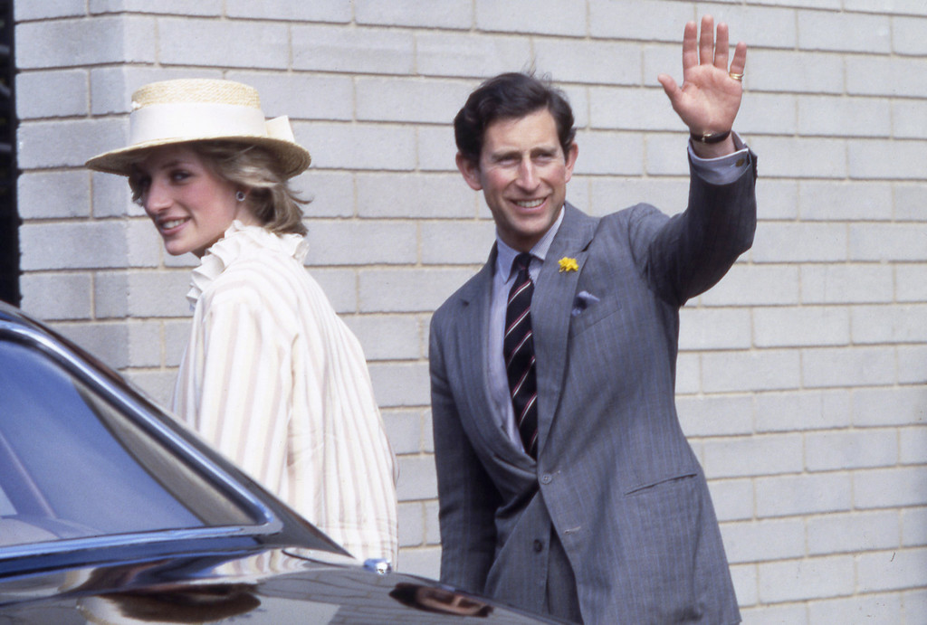 . Britain\'s Princess Diana, with her husband Prince Charles, arriving for their visit to the Parks Centre, in Adelaide, Australia, on April 5, 1983. (AP Photo/Caulkin)