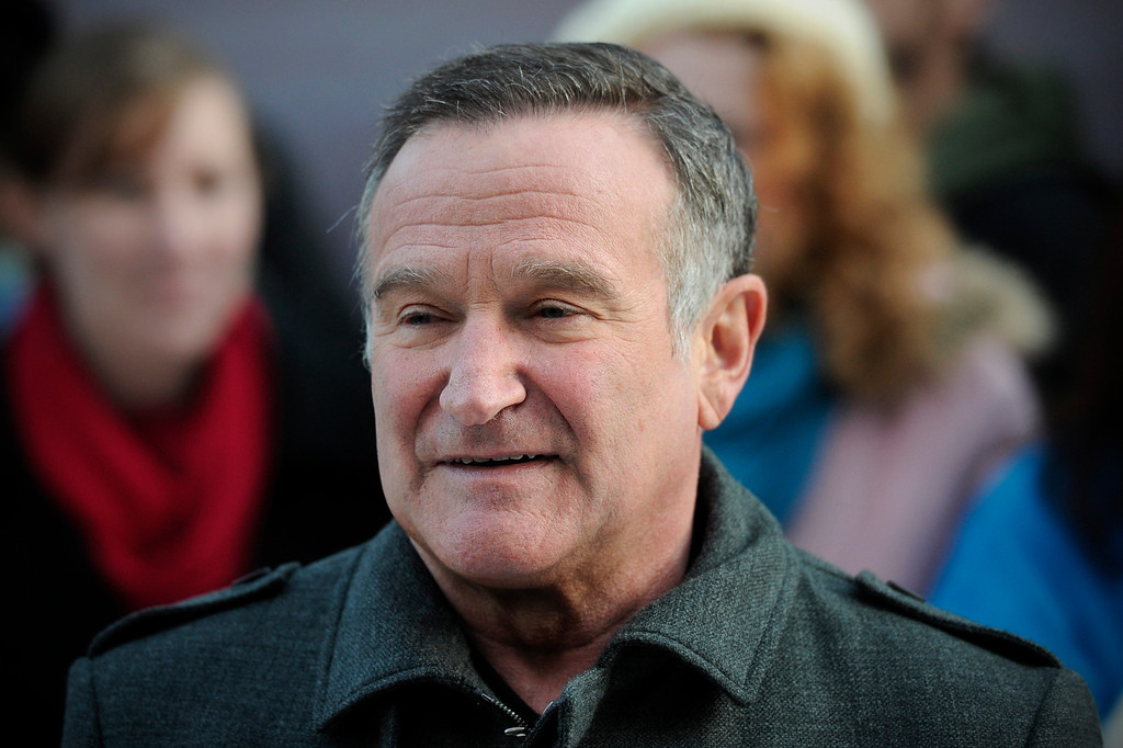 ". File - US actor Robin Williams arrives for the European premiere of ""Happy Feet Two\"" in central London on November 20, 2011.  Williams was born on July 21, 1951, in Chicago, Illinois. He died August 11, 2014 at the age of 63. (CARL COURT/AFP/Getty Images)"