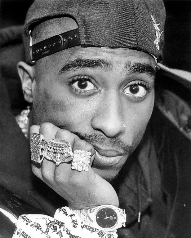 . File - Oakland, CA January 7, 1992 - Rapper Tupac Shakur.  On September 7, 1996, 2Pac was fatally shot in a drive-by shooting at the intersection of Flamingo Road and Koval Lane in Las Vegas, Nevada. He was taken to the University Medical Center of Southern Nevada, where he died six days later, on September 13, 1996. He was 25. (Gary Reyes / Oakland Tribune Staff Archives)