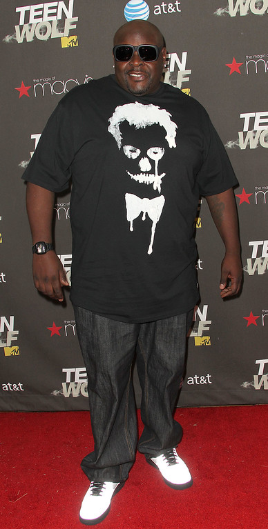 ". LOS ANGELES, CA - MAY 25: Actor Big Black attends the Premiere of MTV\'s ""Teen Wolf\"" at The Roosevelt Hotel on May 25, 2011 in Los Angeles, California.  (Photo by Frederick M. Brown/Getty Images)"