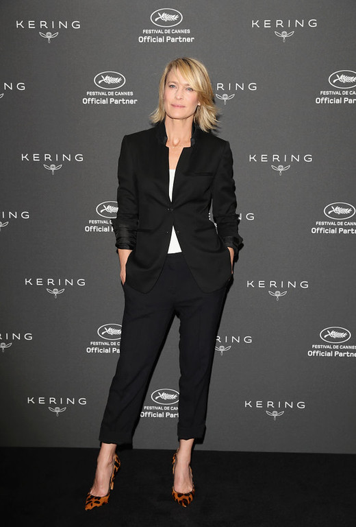 . CANNES, FRANCE - MAY 18:  Actress Robin Wright attends Kering Talks Women In Motion At The 70th Cannes Film Festival at Hotel Majestic on May 18, 2017 in Cannes, France.  (Photo by Vittorio Zunino Celotto/Getty Images for Kering)