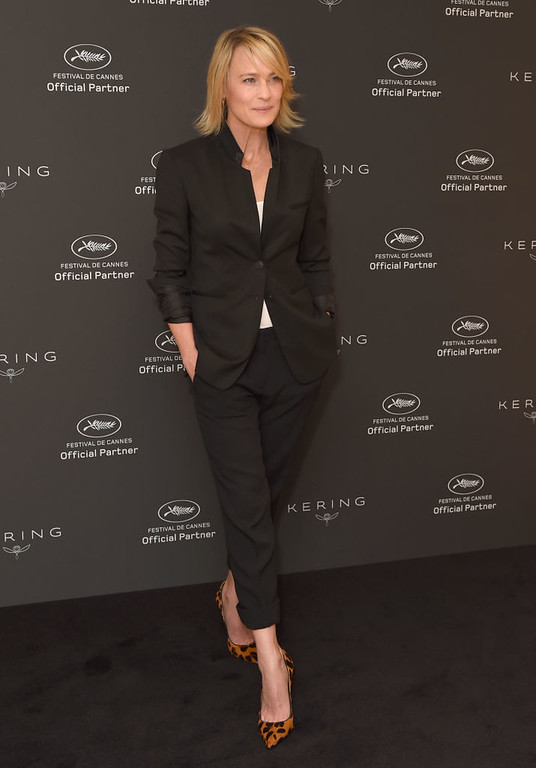 . CANNES, FRANCE - MAY 18:  Robin Wright attends Women In Motion: Robin Wright during the 70th annual Cannes Film Festival at Palais des Festivals on May 18, 2017 in Cannes, France.  (Photo by Antony Jones/Getty Images)