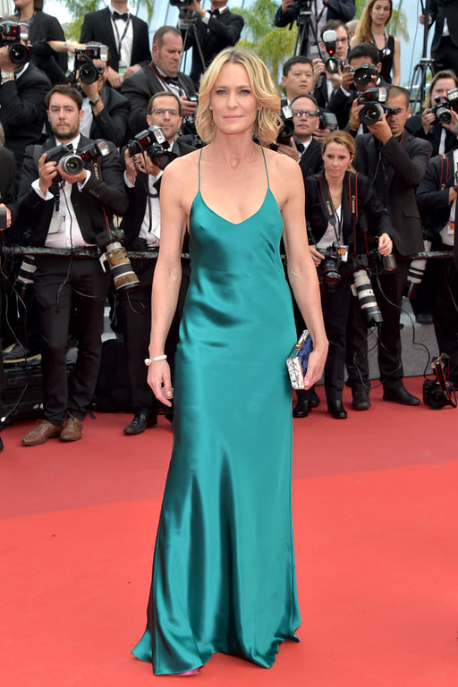 ". CANNES, FRANCE - MAY 18:  Director Robin Wright of The Dark of Night attends the ""Loveless (Nelyubov)\"" screening during the 70th annual Cannes Film Festival at Palais des Festivals on May 18, 2017 in Cannes, France.  (Photo by Pascal Le Segretain/Getty Images)"