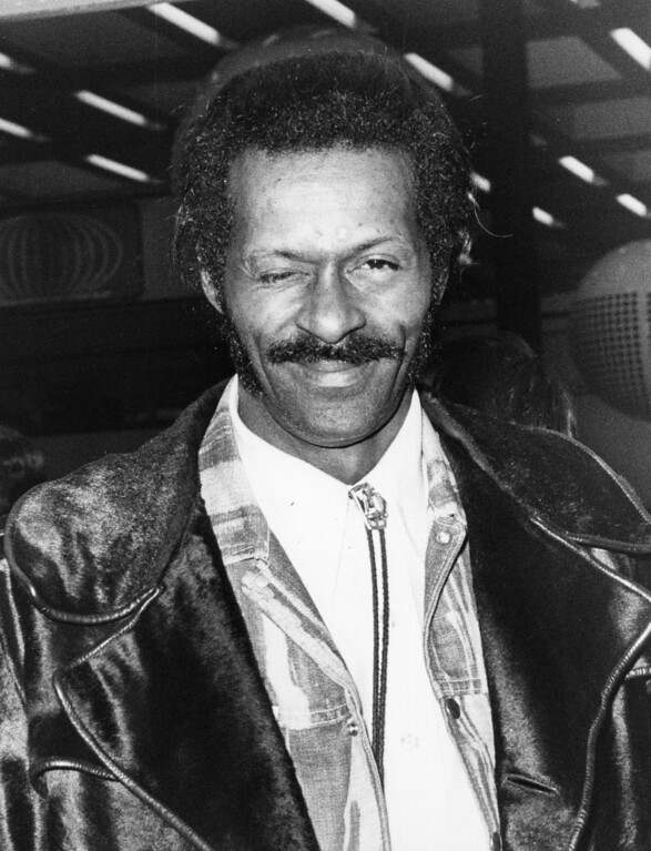 . Influential American singer and songwriter Chuck Berry. (Photo by Evening Standard/Getty Images)
