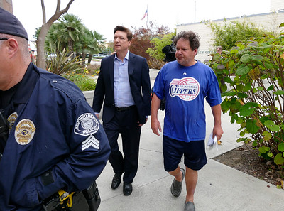 Roger Clinton released on bail from Redondo Beach PD after DUI arrest on Sunday.  Photos by Brad Graverson/ SCNG//06-6-16