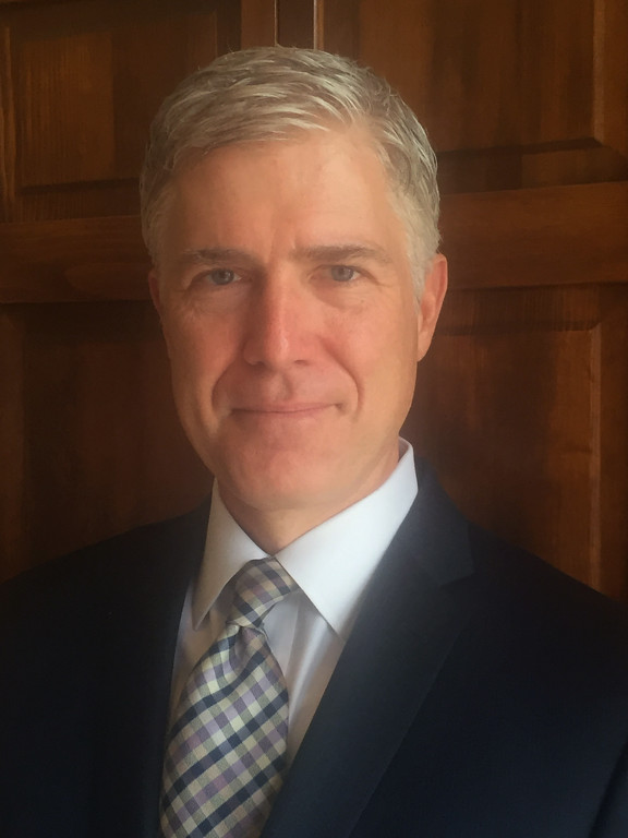 . This photo provided by the 10th U.S. Circuit Court of Appeals shows Judge Neil Gorsuch. President Donald Trump has narrowed his choice to fill the Supreme Court vacancy to three judges and said he expects to make his decision in the coming days. The leading contenders, who all have met with Trump, are Gorsuch, William Pryor and Thomas Hardiman, the person said, speaking anonymously because he was not authorized to speak publicly about internal decisions. (10th U.S. Circuit Court of Appeals  via AP)