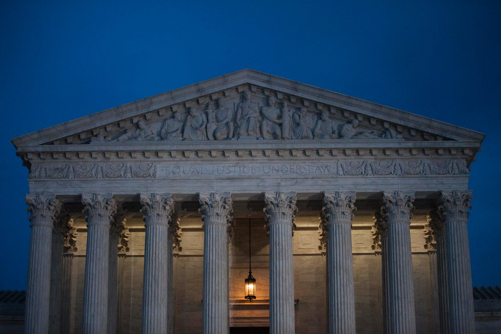 . The United States Supreme Court is pictured in Washington, DC, on January 31, 2017, before President Donald Trump announces his nominee to fill the seat of former Associate Justice of the Supreme Court Antonin Scalia.   President Donald Trump was poised to unveil his pick for the US Supreme Court, a crucial appointment that could tilt the bench to conservatives on deeply divisive issues such as abortion and gun control. (ZACH GIBSON/AFP/Getty Images)