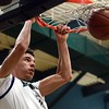 Boys Athlete of the Year: Chino Hills High School's Lonzo Ball dunks against Santa Margarita High School during a first round CIF SS Open Division basketball game on Friday, February 19, 2016 at Chino Hills High School in Chino Hills, Ca.  Chino Hills won the game 100-66. (Micah Escamilla/Inland Valley Daily Bulletin)