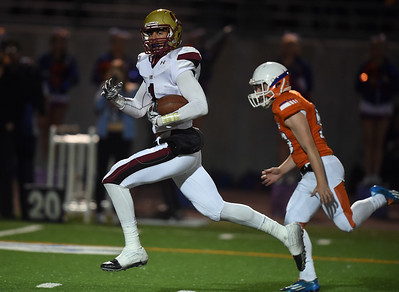 Most Outstanding Individual Performance:  Oaks Christian's Michael Pittman #1 returns the opening kickoff for a touchdown during their high school football game against Westlake at Westlake High School in Westlake, CA, Friday, November 6, 2015. (Photo by Hans Gutknecht/Los Angeles Daily News)