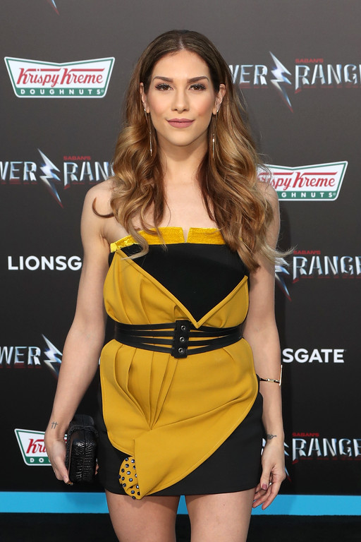 ". WESTWOOD, CA - MARCH 22:  Dancer Allison Holker at the premiere of Lionsgate\'s ""Power Rangers\"" on March 22, 2017 in Westwood, California.  (Photo by Frederick M. Brown/Getty Images)"
