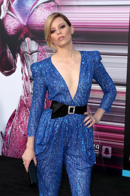 ". WESTWOOD, CA - MARCH 22:  Actor Elizabeth Banks at the premiere of Lionsgate\'s ""Power Rangers\"" on March 22, 2017 in Westwood, California.  (Photo by Frederick M. Brown/Getty Images)"