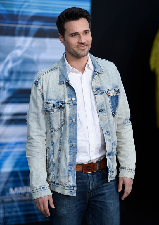 ". Brett Dalton arrives at the Los Angeles premiere of Saban\'s ""Power Rangers\"" at the Regency Westwood Village Theatre on Wednesday, March 22, 2017. (Photo by Chris Pizzello/Invision/AP)"