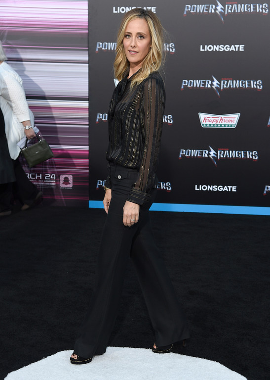 ". Kim Raver arrives at the Los Angeles premiere of Saban\'s ""Power Rangers\"" at the Regency Westwood Village Theatre on Wednesday, March 22, 2017. (Photo by Chris Pizzello/Invision/AP)"