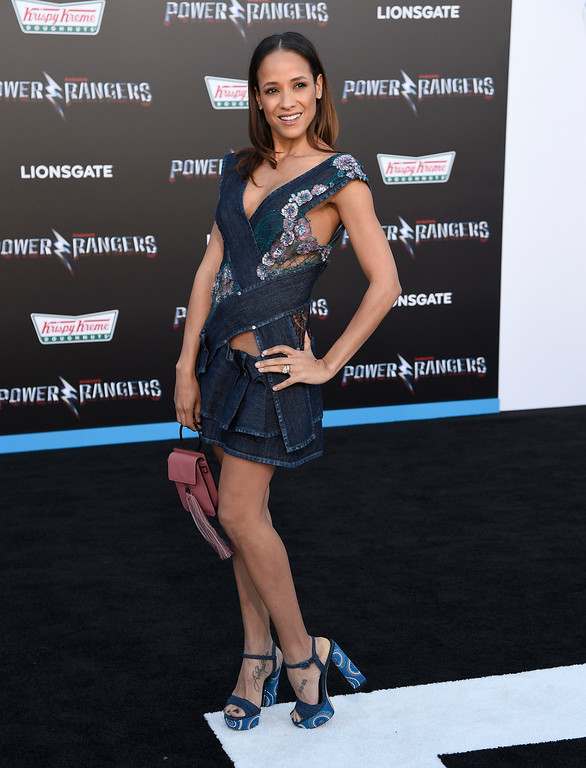 ". Dania Ramirez arrives at the Los Angeles premiere of Saban\'s ""Power Rangers\"" at the Regency Westwood Village Theatre on Wednesday, March 22, 2017. (Photo by Chris Pizzello/Invision/AP)"