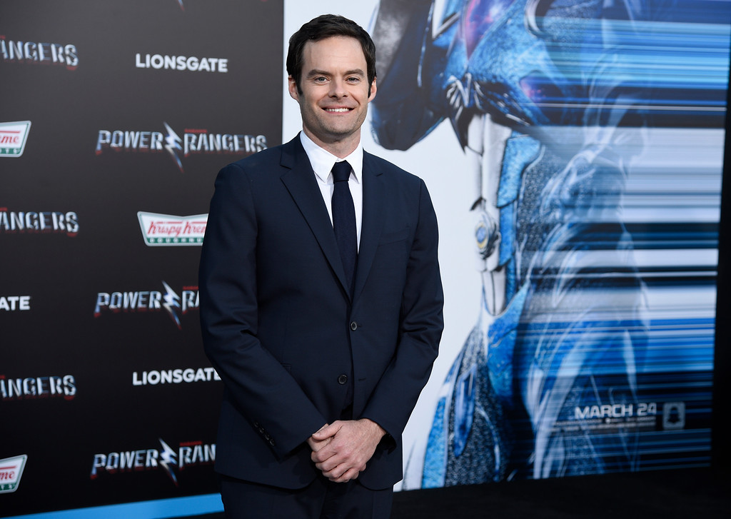 ". Bill Hader arrives at the Los Angeles premiere of Saban\'s ""Power Rangers\"" at the Regency Westwood Village Theatre on Wednesday, March 22, 2017. (Photo by Chris Pizzello/Invision/AP)"
