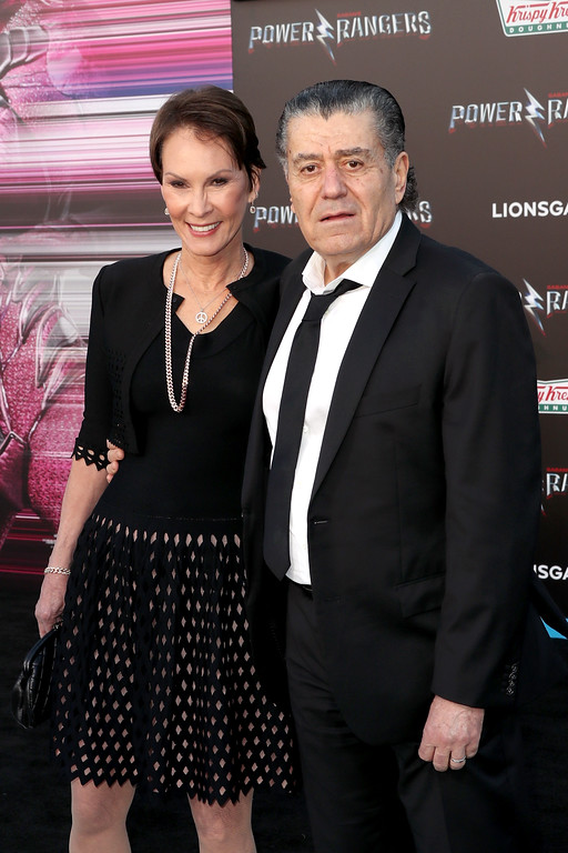 ". WESTWOOD, CA - MARCH 22:  Author Cheryl Saban (L) and producer Haim Saban at the premiere of Lionsgate\'s ""Power Rangers\"" on March 22, 2017 in Westwood, California.  (Photo by Frederick M. Brown/Getty Images)"