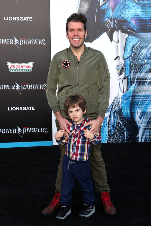". WESTWOOD, CA - MARCH 22:  Internet personality Perez Hilton at the premiere of Lionsgate\'s ""Power Rangers\"" on March 22, 2017 in Westwood, California.  (Photo by Frederick M. Brown/Getty Images)"