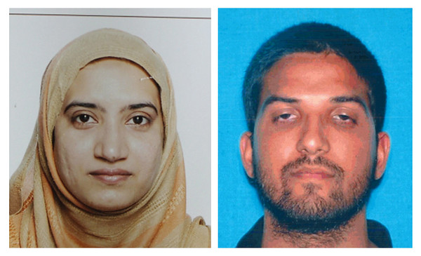 . This undated combination of photos provided by the FBI, left, and the California Department of Motor Vehicles shows Tashfeen Malik, left, and Syed Farook. The husband and wife died in a fierce gunbattle with authorities several hours after their commando-style assault on a gathering of Farook\'s colleagues from San Bernardino, Calif., County\'s health department Wednesday, Dec. 2, 2015. (FBI, left, and California Department of Motor Vehicles via AP)