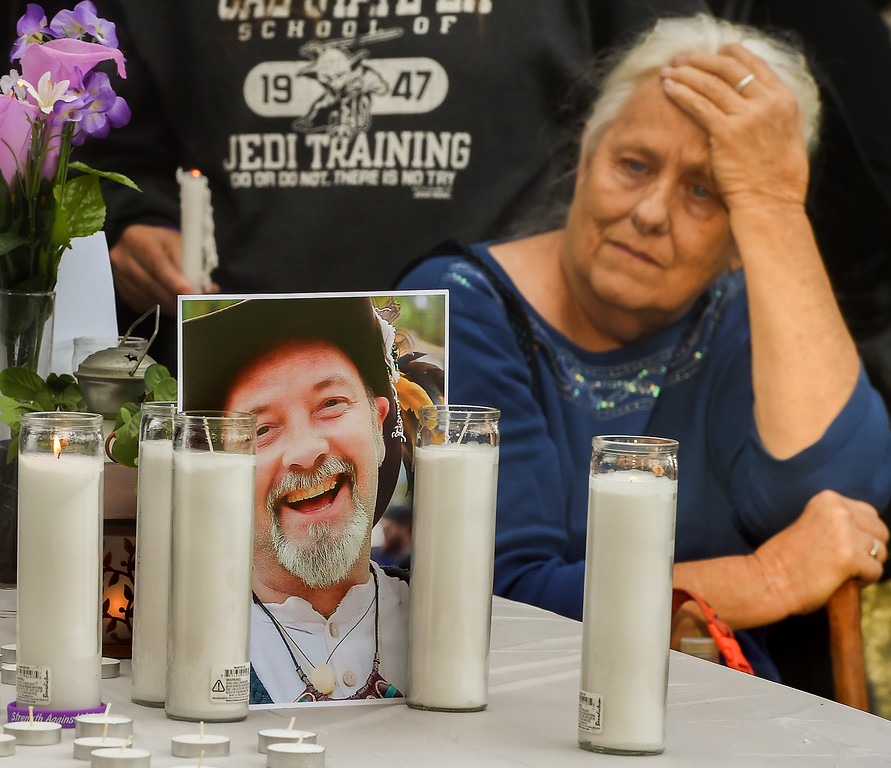 ". A memorial for San Bernardino shooting victim Larry Daniel Kaufman at Santa Fe Dam in Irwindale Saturday, December 5, 2015 and went by the name ""Daniel,\"" was held by his friends, many of who Kaufman met while working the Renaissance Pleasure Faire, which Kaufman had participated in and worked. Kaufman worked at the Inland Regional Center, where he managed the coffee shop and worked as a job coach for developmentally disabled adults, some of who worked at the coffee shop under Kaufman\'s supervision.(Photo by Walt Mancini/Pasadena Star-News)A memorial for San Bernardino shooting victim Larry Daniel Kaufman at Santa Fe Dam in Irwindale Saturday, December 5, 2015 and went by the name \""Daniel,\"" was held by his friends, many of who Kaufman met while working the Renaissance Pleasure Faire, which Kaufman had participated in and worked. Kaufman worked at the Inland Regional Center, where he managed the coffee shop and worked as a job coach for developmentally disabled adults, some of who worked at the coffee shop under Kaufman\'s supervision.(Photo by Walt Mancini/Pasadena Star-News)"