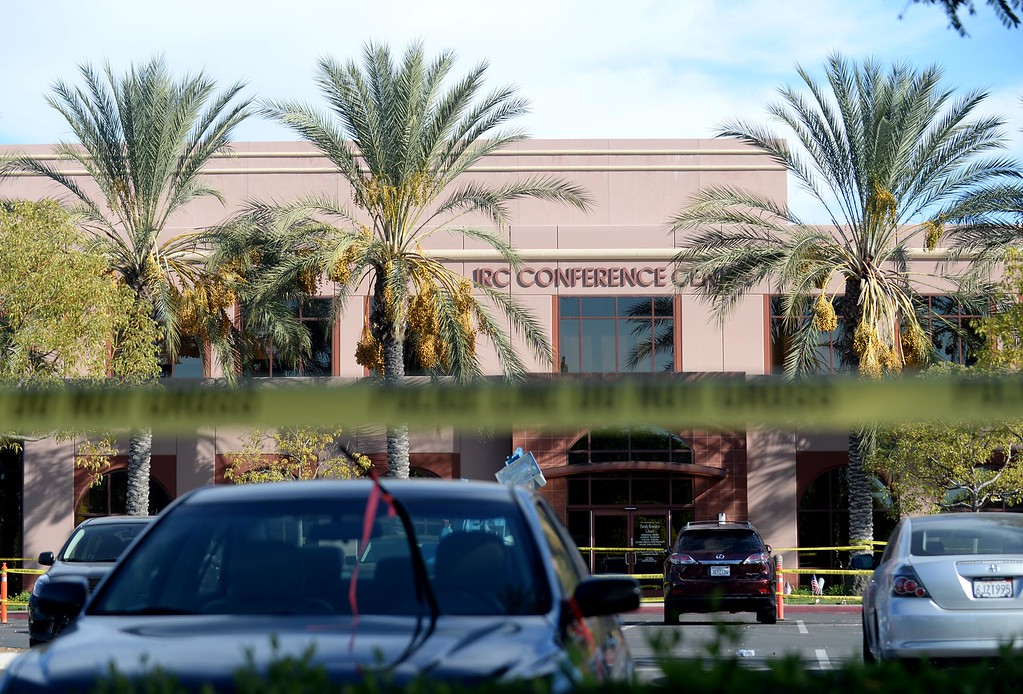 . Police tape surrounds the property of the Inland Regional Center on Monday, December 7, 2015 in San Bernardino, Ca.  (Micah Escamilla/The Sun)