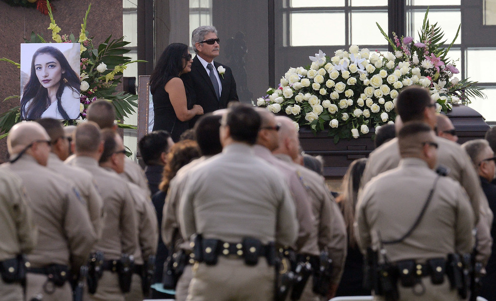 . Funeral services for Yvette Velasco, 27 of Fontana, Thursday December 10, 2015 at Forest Lawn in Covina. Velasco is the first of the 14 victims from the Dec. 2 Inland Regional Center mass shooting to be buried.  (Will Lester/Inland Valley Daily Bulletin)