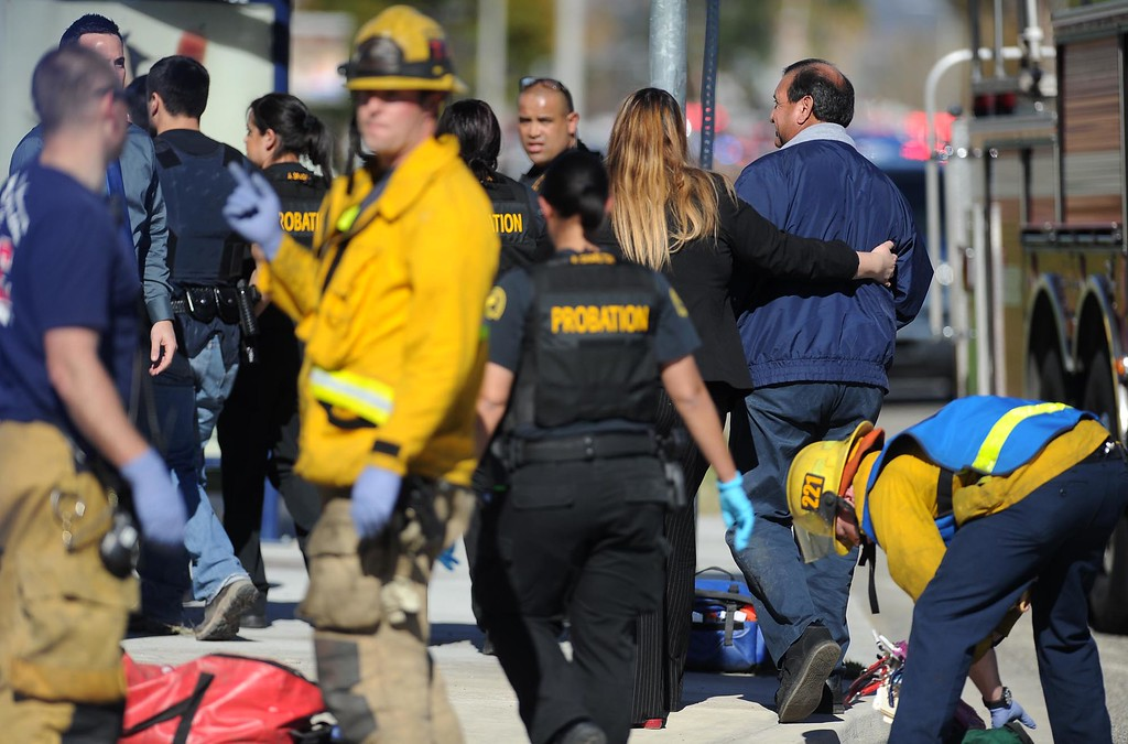 . An active shooter situation takes place at the Inland Regional Center on Wednesday, December 2, 2015, San Bernardino, Ca.  (Micah Escamilla/The Sun)