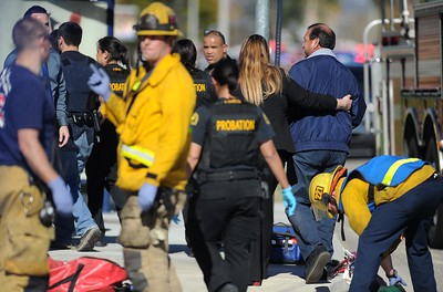An active shooter situation takes place at the Inland Regional Center on Wednesday, December 2, 2015, San Bernardino, Ca.  (Micah Escamilla/The Sun)