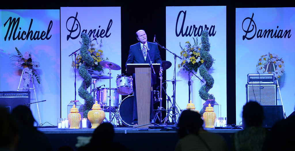 . Families and performers took part in the San Bernardino Healing Memorial Show at the National Orange Show Events Center in San Bernardino Sunday December 27, 2015. The program was to remember those killed in the Inland Regional Center mass shooting from December 2. (Will Lester/Inland Valley Daily Bulletin)