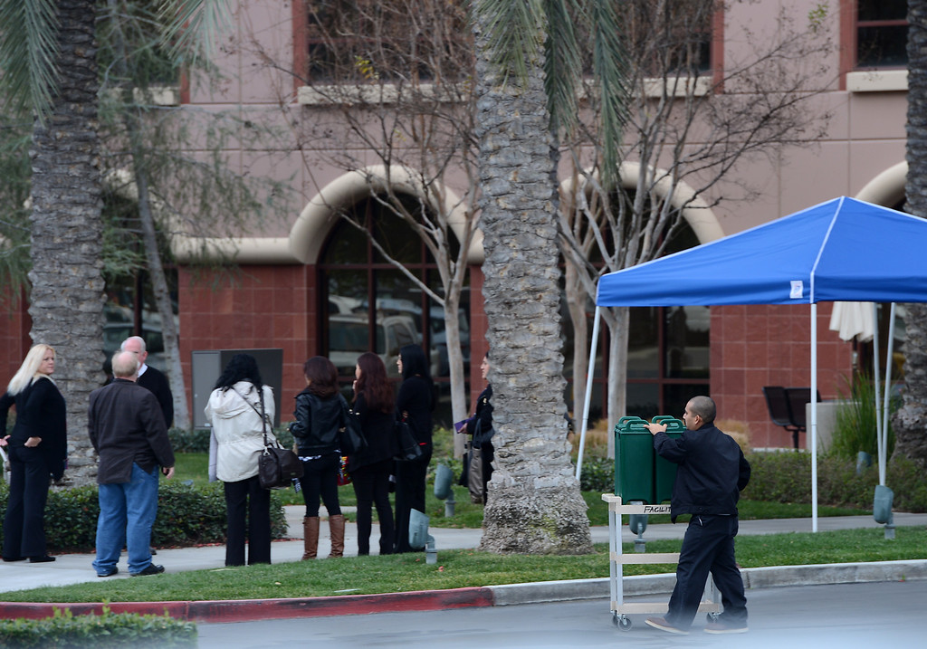 . Employees return to work at the Inland Regional Center in San Bernardino, CA., Monday, January 4, 2016. The center was the scene of last month\'s mass shooting. (Photo by Jennifer Cappuccio Maher/The Sun)
