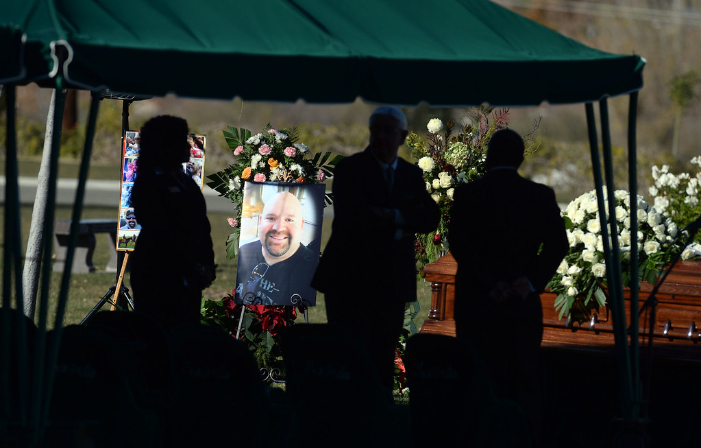 . A gravesite service for Robert Adams, one of 14 killed in the December 2 shooting at the Inland Regional Center, is held at Montecito Memorial Park in Colton, Ca. (Micah Escamilla/The Sun)