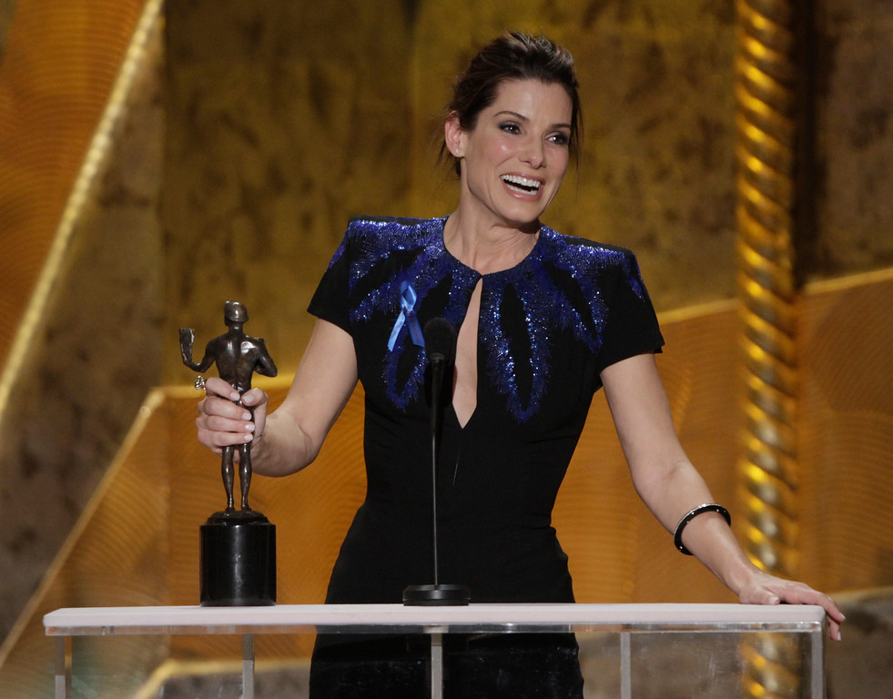 . Sandra Bullock won for Outstanding Performance by a Female Actress during the 16th Annual Screen Actors Guild show held at the  Los Angeles Shrine Exposition Center on January 23, 2010 (Hans Gutknecht/Los Angeles Daily News)