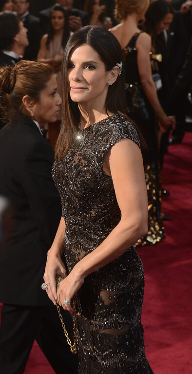 . Sandra Bullock arrives at the 85th Academy Awards at the Dolby Theatre in Los Angeles, California on Sunday Feb. 24, 2013 ( Hans Gutknecht/Los Angeles Daily News)