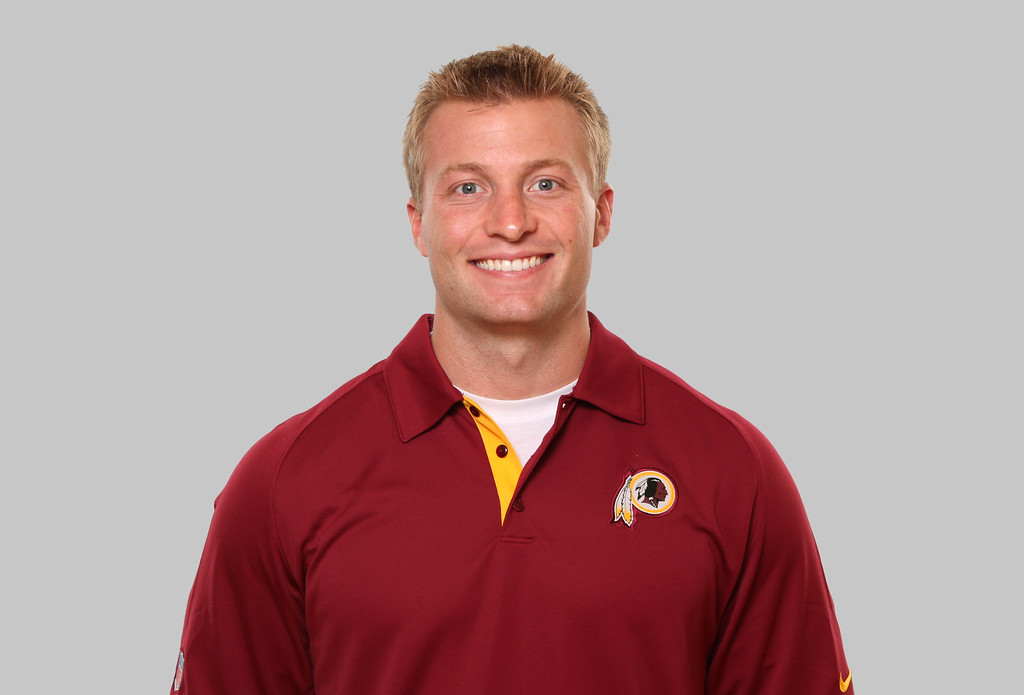 . This is a photo of Sean McVay of the Washington Redskins NFL football team. This image reflects the Washington Redskins active roster as of Thursday, July 16, 2015. (AP Photo)