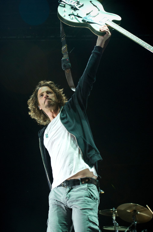 . Chris Cornell of Soundgarden performs during the 2013 Rock On The Range festival at Columbus Crew Stadium on May 19, 2013, in Columbus, Ohio. (Photo by Amy Harris/Invision/AP)