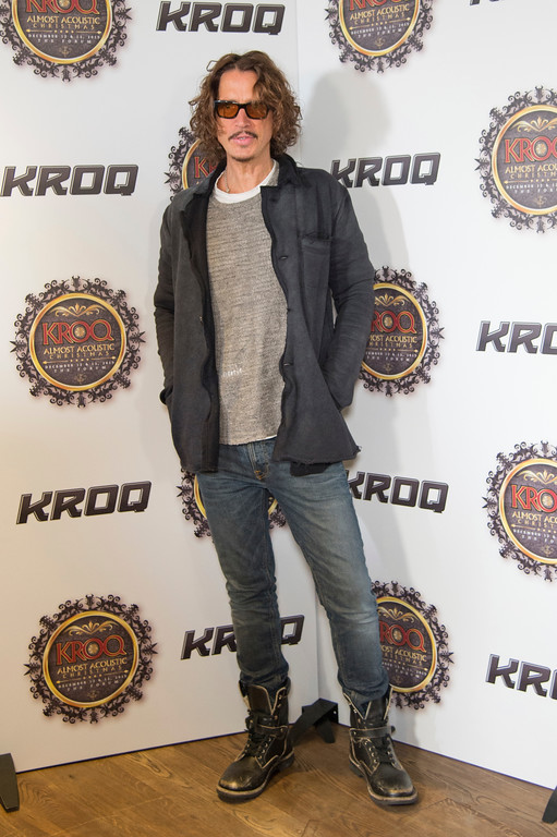 . Chris Cornell attends KROQ\'s Almost Acoustic Christmas at The Forum on December 13, 2015, in Inglewood, California. (Photo by Amy Harris/Invision/AP)