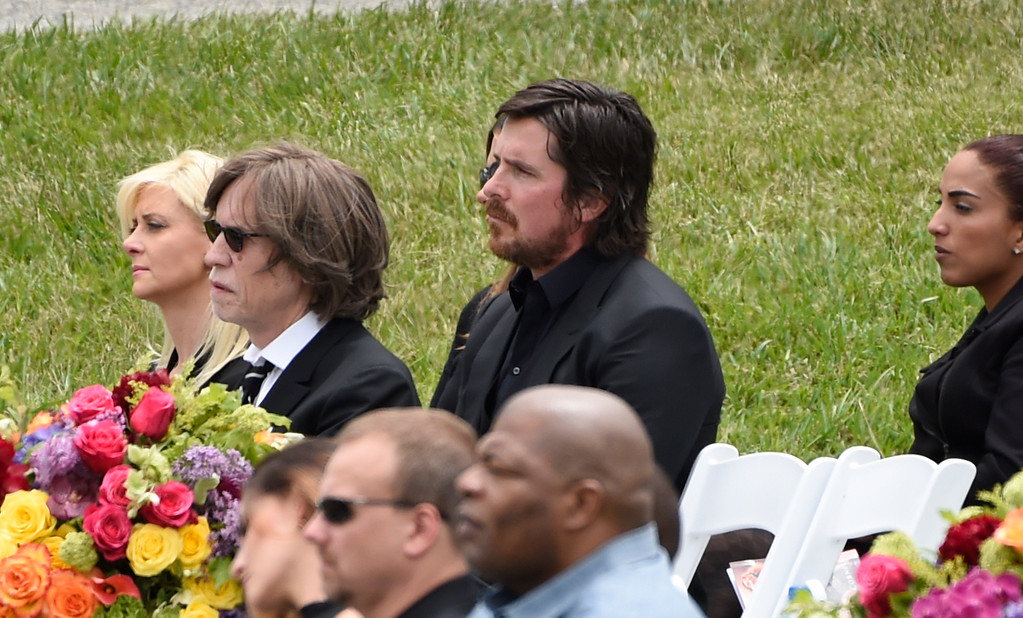 . Christian Bale attends a funeral for Chris Cornell at the Hollywood Forever Cemetery on Friday, May 26, 2017, in Los Angeles. (Photo by Chris Pizzello/Invision/AP)
