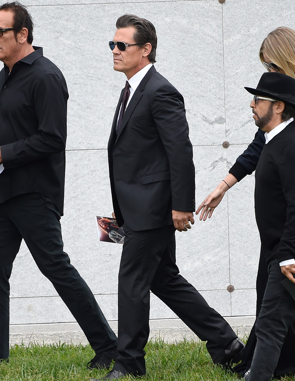 . Actor Josh Brolin attends a funeral for Chris Cornell at the Hollywood Forever Cemetery on Friday, May 26, 2017, in Los Angeles. (Photo by Chris Pizzello/Invision/AP)