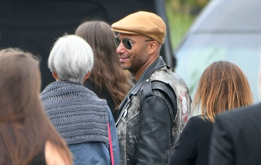 . Tom Morello, guitarist for Audioslave, attended the memorial service at Hollywood Forever Cemetary for Chris Cornell, the iconic rocker who hanged himself in a Detroit hotel room earlier this month. Los Angeles, CA. 5/26/2017 Photo by John McCoy/Los Angeles Daily News (SCNG)
